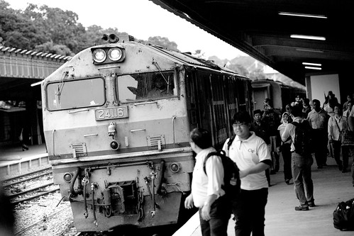 Passengers disembarking at the Tanjong Pagar Railway Station