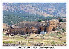 Roman amphitheater of Hierapolis (CTPPIX.com) Tags: voyage trip travel summer architecture forest canon turkey eos ancient ruins tour roman urlaub turkiye amphitheatre july 7d ctp trailer pinetrees hieropolis pamukkale denizli turchia 2011 guidedtour amfitiyatro cipura ctpehlivan christpehlivan ctppix cipuratur cipuratour