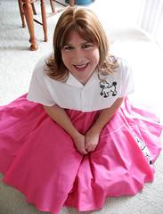 Pink Poodle Skirt (melissa2xs) Tags: pink skirt tgirl poodle crossdresser saddle