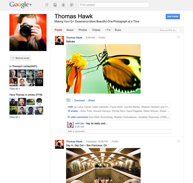 Thumbnail for Thomas Hawk Digital Connection » Blog Archive » Top 10 Tips on Google+ for Photographers