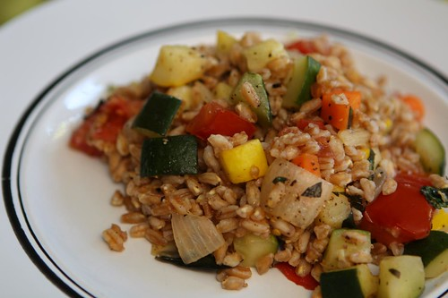 Summer Farro with Thai Basil and Mint