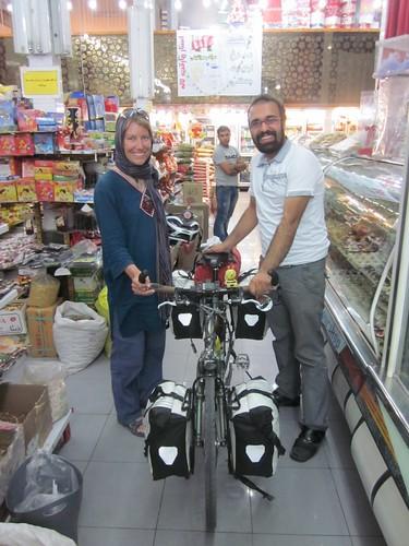 Supermarket cycling.