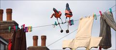 Birds on a wire (StripeyAnne) Tags: artists washing backtoback armley ilovewestleeds stripeyanne