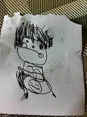 Portrait, by L age 3.5