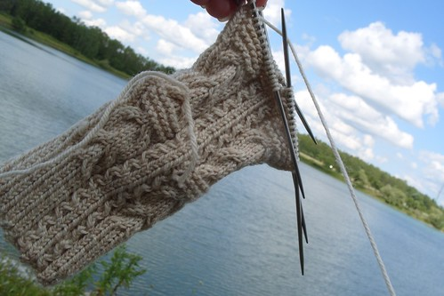sock and lake by gradschoolknitter