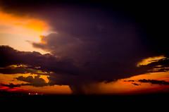 Wicked looking Oklahoma storm (The Developing Tank) Tags: sunset red orange sun black oklahoma rain yellow grey pentax july storms oklahomacity k5 oklahomathunderstorms