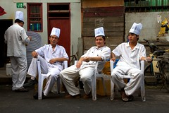 ((qifei)) Tags: china white break shanghai chef bianco cina cookers pausa hongkou cuochi