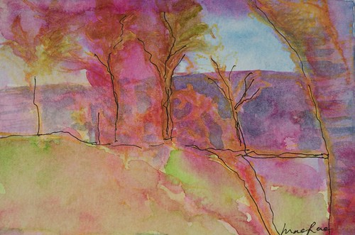 The Garden  by Roberta MacRae Artist in the Landscape