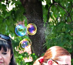 A popping bubble (debstromquist (who hates the new Facebo...er Flick) Tags: illinois bubbles il flickrcentral chicagoland lagrange petparade anythingeverything poppingbubbles atganythinggoesalmost
