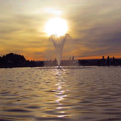 Fire fountain (carol_alison_smith) Tags: sunset reflection water fire flickr gallery award best wow1 wow2 wow3