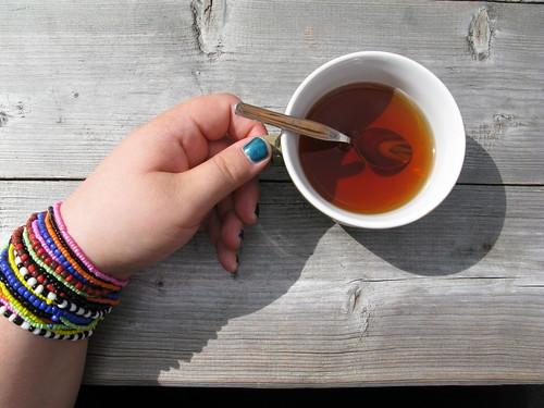Sunny morning tea