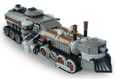Light Steam Landship Mk. LXIII (side) (aillery) Tags: war tank lego military great steam land locomotive machines overland steampunk landship railship