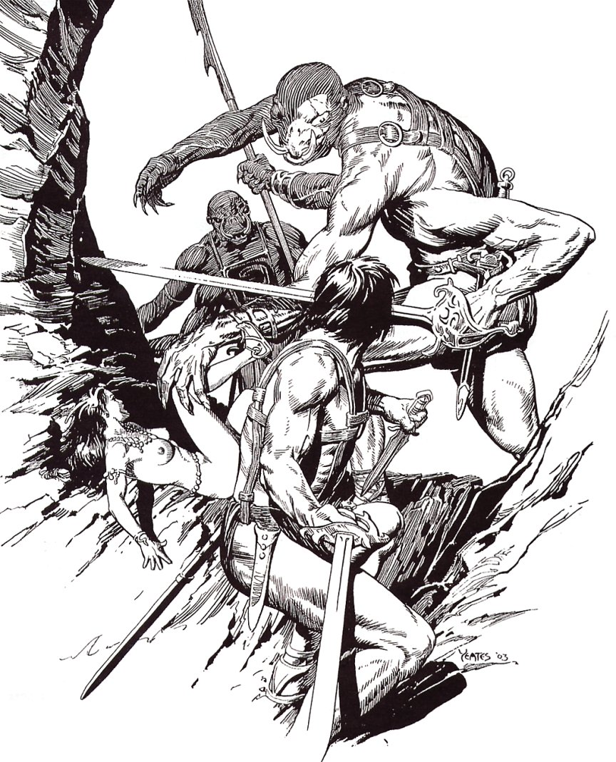Thomas Yeates - John Carter Of Mars, Illustration 4