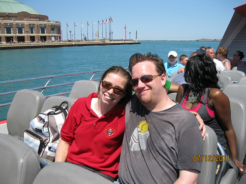 "7/12/11: The ""extreme"" speedboat ride meant everyone got wet."