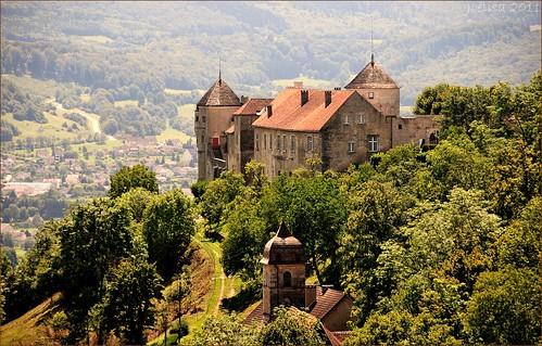 Château de Belvoir, замки Франш-Конте, достопримечательности Франции