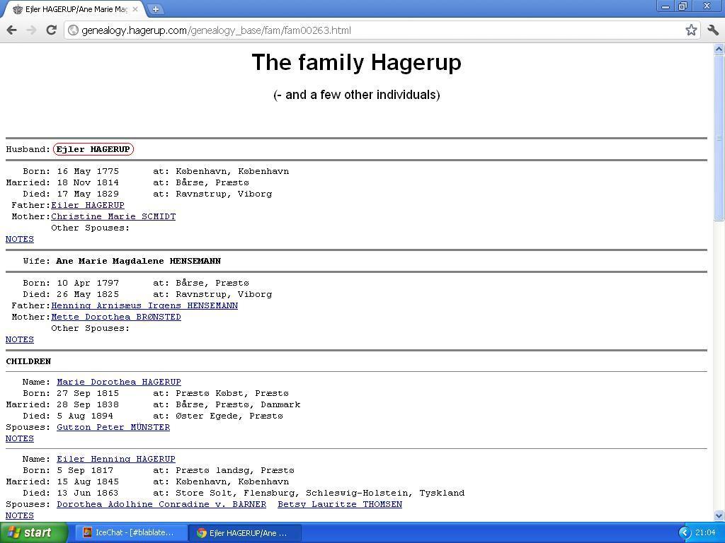 eiler hagerup født i 1775
