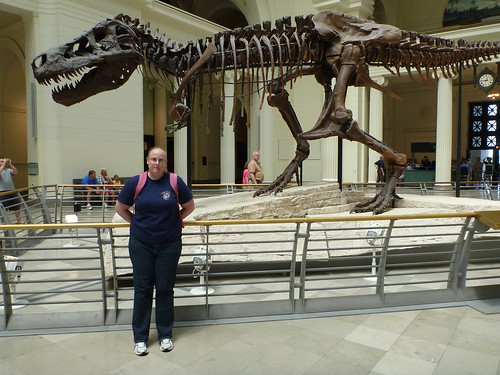 Stacia With Sue the T-Rex
