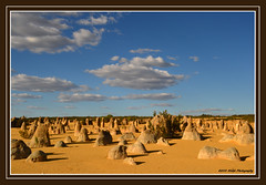 Pinnacles (stf) Tags: travel blue red sky rot rock stone sand reisen flickr desert award australia gelb outback fels blau stein pinnacles wste