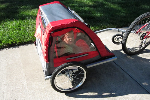 jc in bike trailer