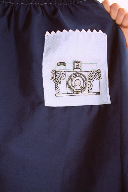 Embroidered Diana Camera Skirt