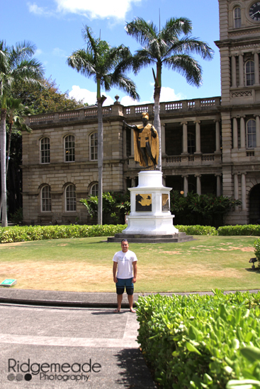 Dan at the King Kamehameha Statue