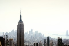 New York City is Sizzling Hot! (mudpig) Tags: nyc newyorkcity newyork skyline geotagged smog newjersey haze jerseycity cityscape nj esb empirestatebuilding gothamist statueofliberty hdr topoftherock heatwave observationdeck goldmansachs mudpig stevekelley july2011 stevenkelley