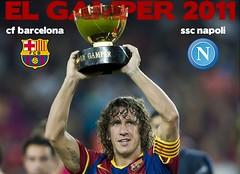Trofeo Gamper 2011 ( bill, poster, locandina)