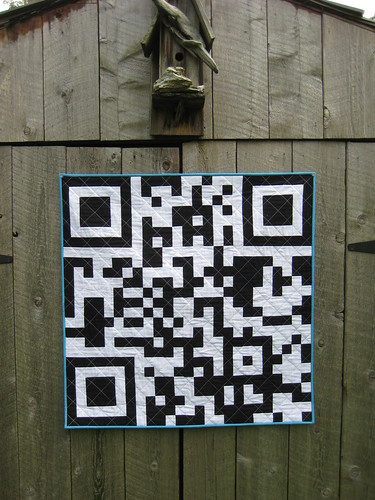 QR Code Quilt by Poppyprint