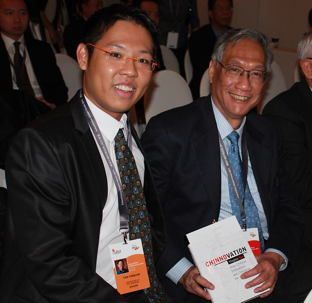 Lim Chee Onn, former Chairman of KEPPEL CORP and Minister with Tan Yinglan (Chinnovation)