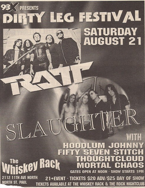 08-21-04 Ratt/Slaughter @ The Whiskey Rack, St. Paul, MN