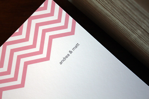 Andrea + Matt's Chevron Stationery