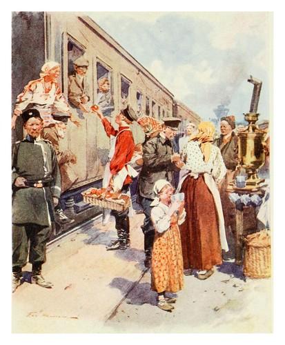 024-Vendedores de te en una estacion de ferrocarril- Provincial Russia-1913- F. de Haenen