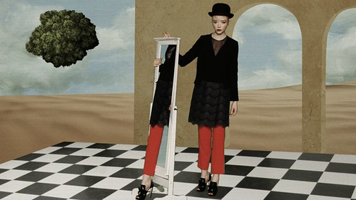 Magritte Inspired Video Still via becauselondon 04