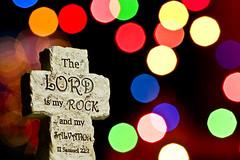 Bible Bokeh (NicZee) Tags: canon bokeh bible 70200 f4 strobe t2i
