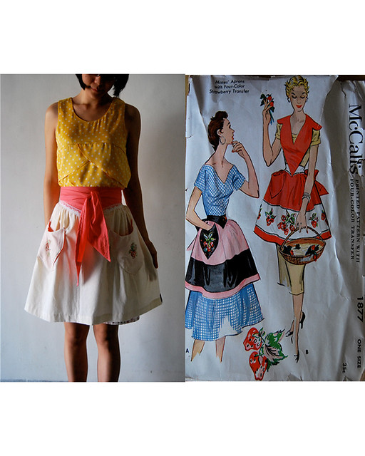 'strawberries' apron