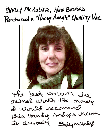 Vacuum Cleaner Review - Shelly McAuliffe of New Bedford, Massachusetts
