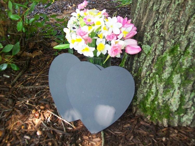 Heart Chalkboard Wedding Sign Photo Prop