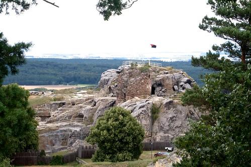 Blick auf die Burgruine Regenstein