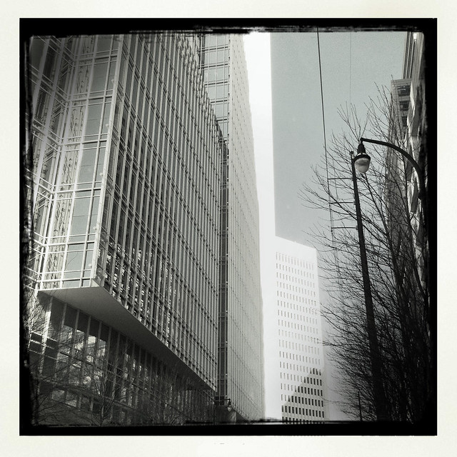Atlanta Street Scene Viewed Through iPhone Photo App