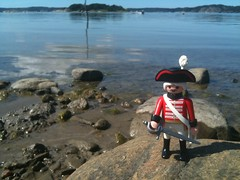 The pirate on his way to the little island on the West Coast in Sweden