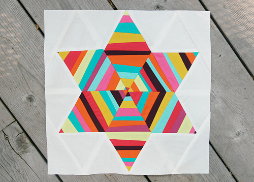 Summer Sampler Series : Six Point String Quilt Block