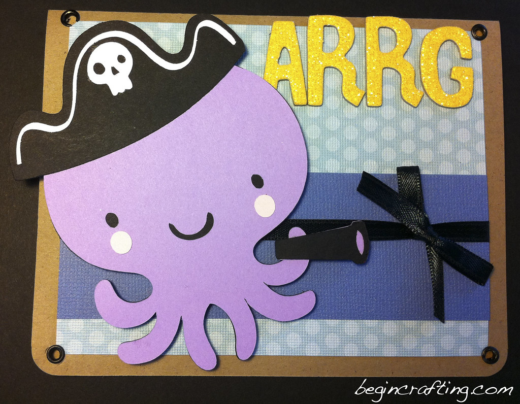 Handmade Pirate Octopus Card