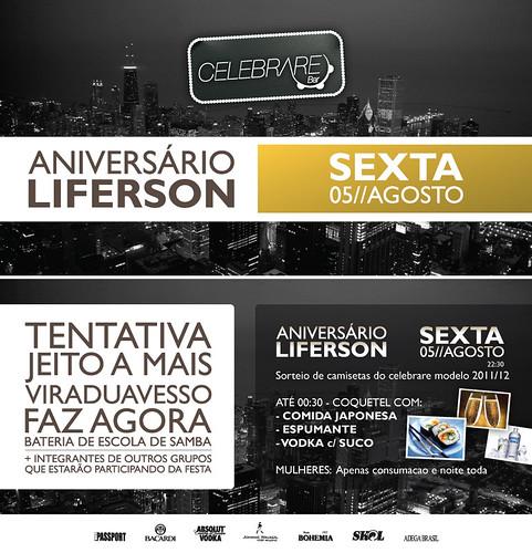 Flyer - Aniversário Liferson by chambe.com.br