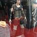 San Diego Comic-Con 2011 - Milla Jovovich as Alice from Resident Evil statue