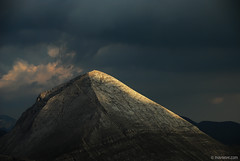 Vihren peak ( 2914m ) , Pirin mountain , Bulgaria (.:: Maya ::.) Tags: light sky mountain clouds dark magic peak special hour moment magestic pirin   vihren         mayaeye mayakarkalicheva  wwwmayaeyecom