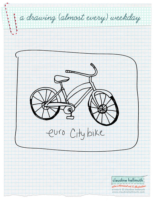 daily drawing - bike week