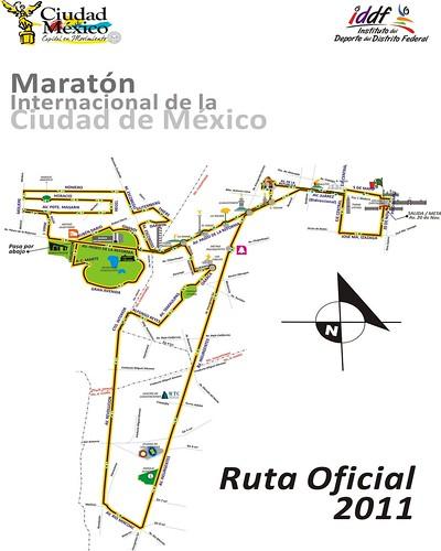 Ruta oficial Maraton de la Ciudad de Mexico 2011