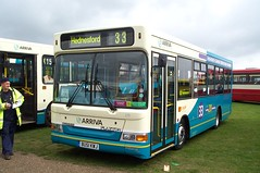 Arriva Midlands 219 (BU51 KWJ) Showbus 23/9/01 (jmupton2000) Tags: uk bus pointer dennis dart arriva slf plaxton bu51kwj