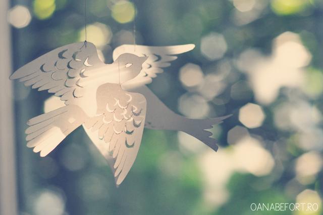 paper cut birds