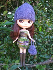 Mallory models the swap goodies!